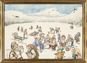 Vinterfiske by Rolf LIDBERG