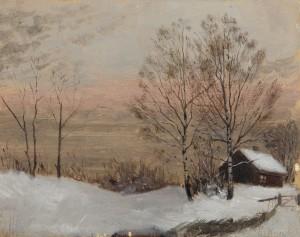 Vinterlandskap by Edvard MUNCH