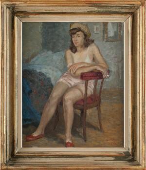 Sittande Modell by Greta GERELL