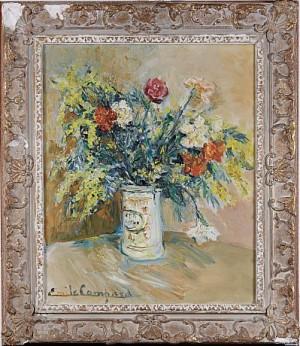 Blomsterstilleben by Émile Francois Jacques COMPARD