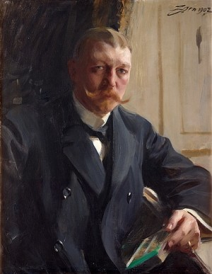 Porträtt Av Disponent Franz Heiss J:or by Anders ZORN