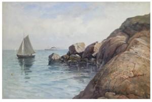 Båtar Vid Klippor by Severin NILSON