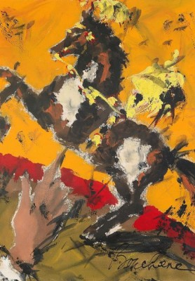 Komposition Med Häst by Dimitri Dimitrievich BOUCHENE