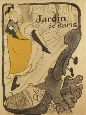 Plakat Jane Avril - Jardin De Paris by Henri De TOULOUSE-LAUTREC