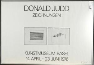 Ustställningsaffisch, Kunstmuseum Basel, 14 April-23 Juni 1976 by Donald JUDD