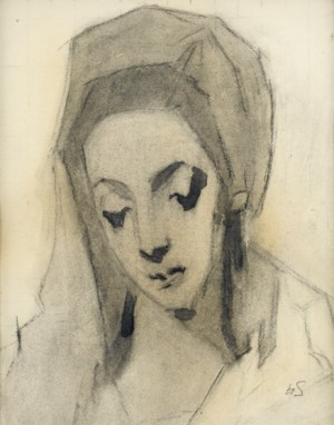 Madonna, D'après Greco by Helene SCHJERFBECK