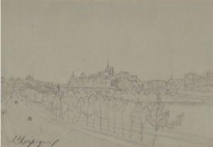 L'ile De La Cité Vue Des Quais by Henri Joseph HARPIGNIES