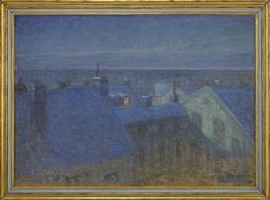 Månskenskväll by Eugène JANSSON