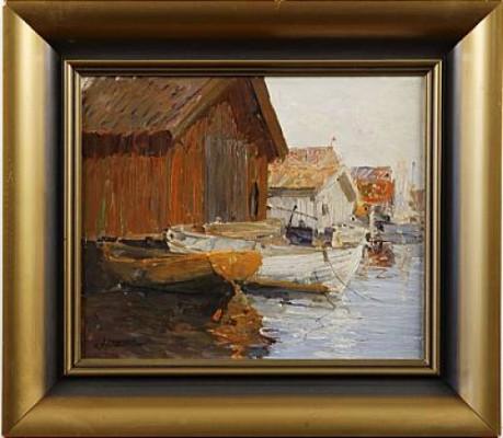 Fiskeläger, Fjällback by Hugo ÖFVERSTRÖM