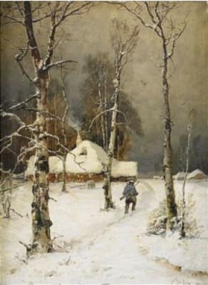 Winter Landscape by Yuliy Yulyevich KLEVER