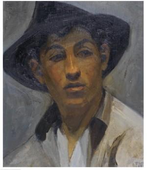 I Slokhatt - Kamratporträtt Av Isaac Grünewald by Einar NERMAN