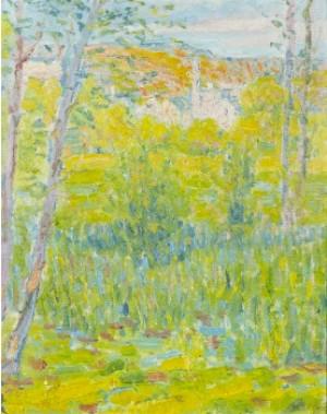Sommarlandskap Med Träd by Dick BEER