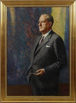 Porträtt Av Sven Hammarskiöld by Carl GUNNE