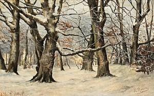 Vinterlandskap by Karl Ioganovich ROSEN