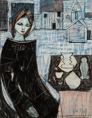 Sittende Kvinne by Kai FJELL