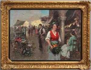 Sydländsk Marknadsscen by Guiseppe PITTO