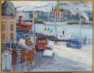 Af Chapman Från Slussen, Stockholm by Charles SJÖHOLM