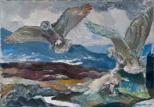 Snowy Owls by Lennart SEGERSTRÅLE