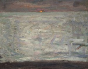 Solnedgång över Havet. by Richard BERGH