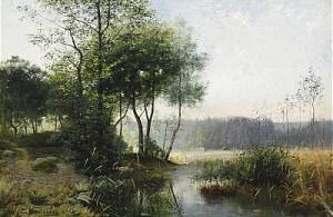 Insjölandskap by Julia STRÖMBERG