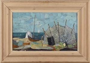 Nät Och Uppdragen Båt by Sture HAGLUNDH