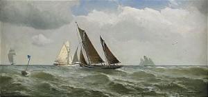 Segelbåtar På Havet by Christian Fredrik SWENSSON