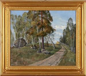 Landsväg, Motiv Från Rotebro Stockholm by Ivar NAUMANN
