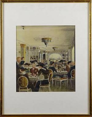 Caféinteriör by Rudolf CARLBORG