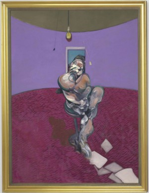 Portrait Of George Dyer Talking by Francis BACON