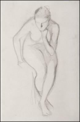 Modellstudie by Albert EDELFELT