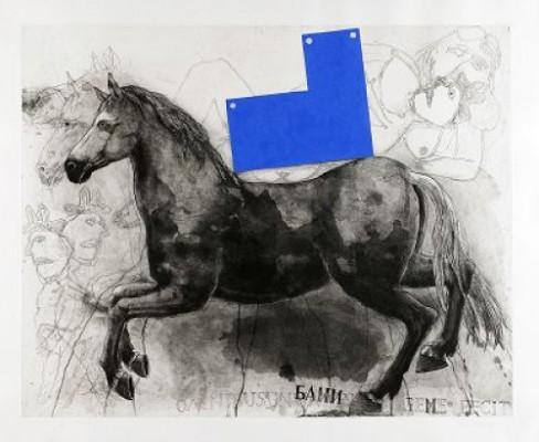 Häst (åt Vänster) by Pär Gunnar 'P. G.' THELANDER