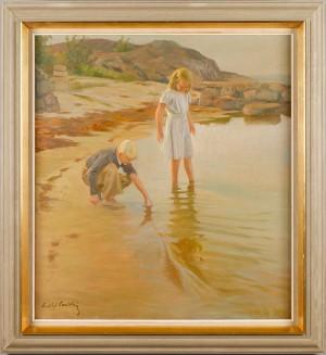 Barn Vid Strandkant by Gustaf CARLSTRÖM