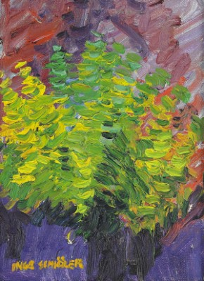 Gröna Löv I Motljus by Inge SCHIÖLER