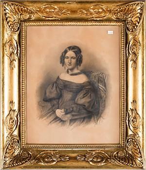 Porträtt Av Henriette Julie Tydén F Steinmetz (1819-1899) Resp August Tydén (1809-1859) by Maria Christina RÖHL