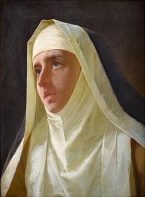 A Nun by Alexander Antonovich RIZZONI