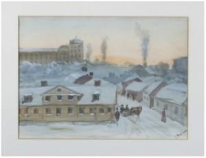 Uppsalavy över Slottet by John ARSENIUS