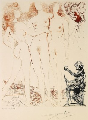 Mythologie: The Judgement Of Paris by Salvador DALI