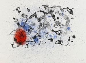 Série Ii: Rouge Et Lavis Bleu by Joan MIRO