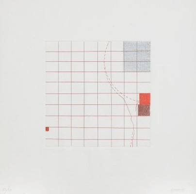 Untitled (suite Of Four Colour Etchings) by Robert RYMAN