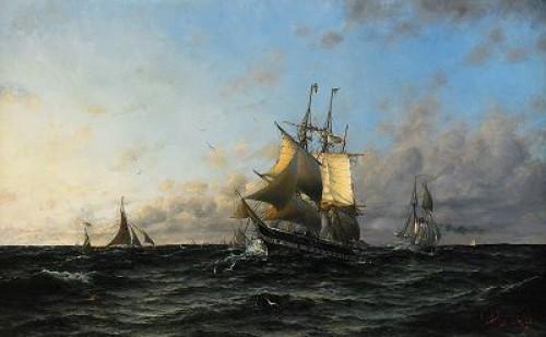 Svensk örlogskorvett by Herman Af SILLÉN