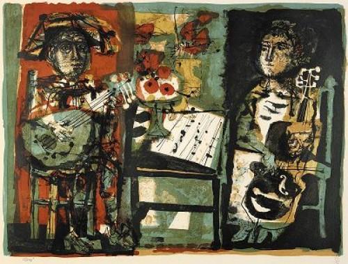Les Musiciens by Antoni CLAVÉ