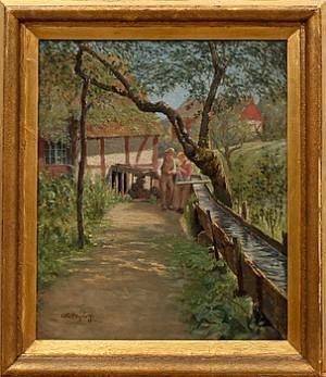 Vid Vattenrännan by Otto HAGBORG