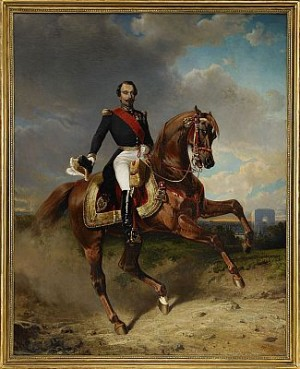 Kejsare Napoleon Iii - Ryttarporträtt by Carl Fredrik KIÖRBOE