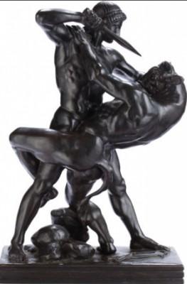 Thésée Combatant Le Minotaure, Second Version by Antoine-Louis BARYE
