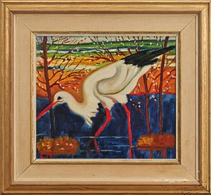 Stork by Ernst NORLIND