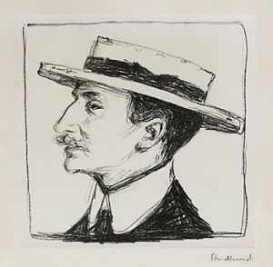 Goldstein With Hat by Edvard MUNCH