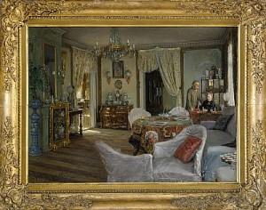 I Salongen - Minna Och Carl-fredrik Von Malmborg by Johan KROUTHÉN
