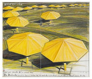 The Umbrellas - Project For Japan And Western Usa by Christo JAVACHEFF