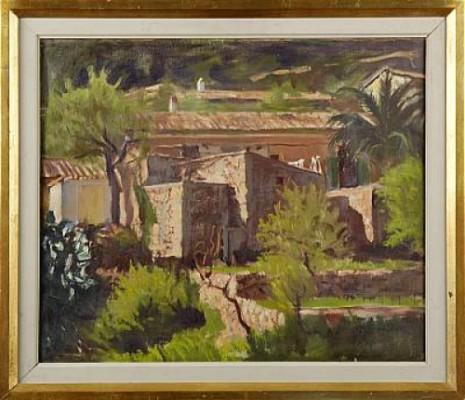 Gamla Hus I Genova I Mallorca by Sigge BERGSTRÖM