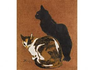 Zwei Katzen by Théophile Alexandre STEINLEN